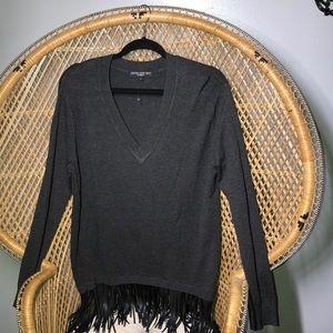 Central Park West fringe sweater, large